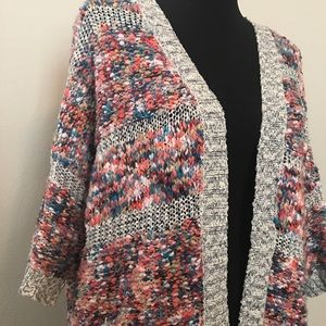 Colorful Woven Cardigan